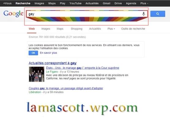 mot gay moteur de recherche google lamascott